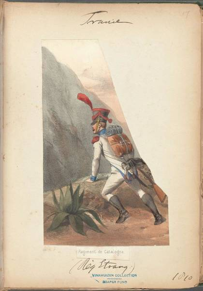 Wall Art - Painting - French Soldier In Uniform, France, 1800s - 8 by Celestial Images