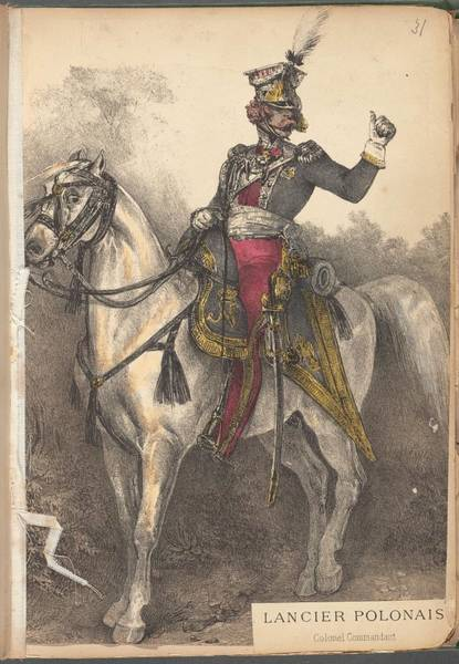 Wall Art - Painting - French Soldier In Uniform, France, 1800s - 9 by Celestial Images