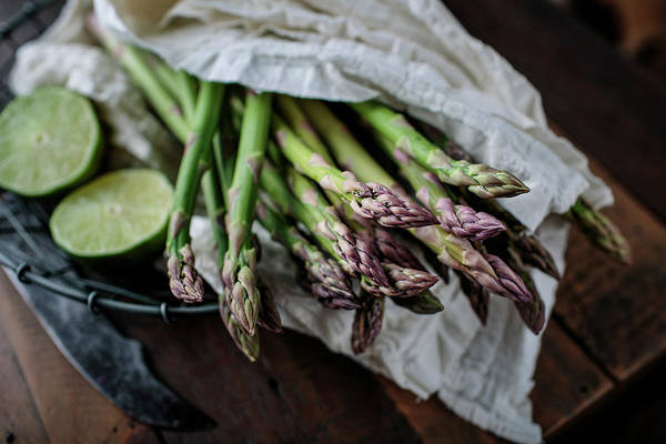 Green Grass Photograph - Fresh Green Asparagus by Nailia Schwarz