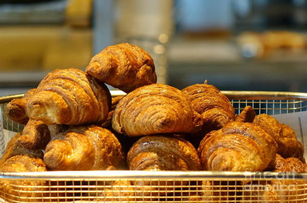 Wall Art - Photograph - Freshly Baked Croissants by Yali Shi
