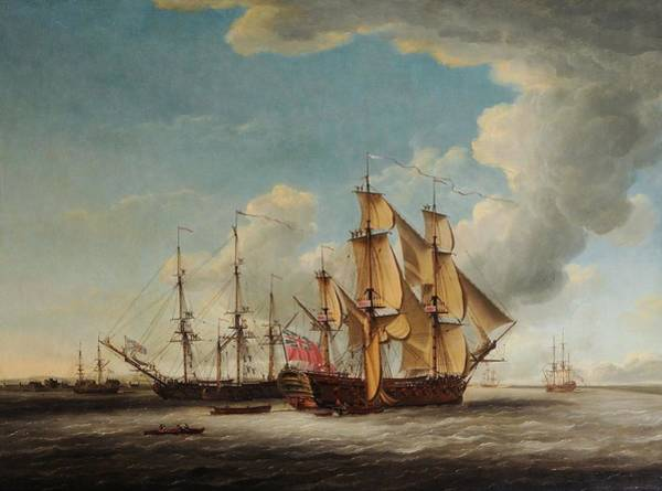 Wall Art - Painting - Frigates Receiving Their Captains by MotionAge Designs