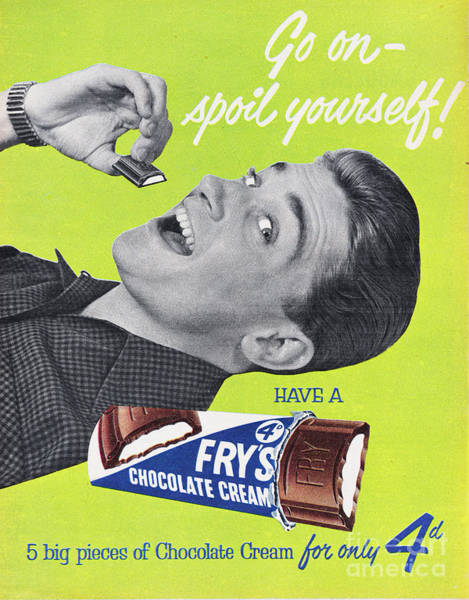Wall Art - Photograph - Frys Chocolate Cream by Picture Post