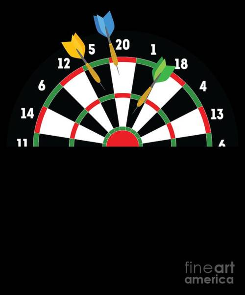 Amateur Digital Art - Funny Darts Gift Gift For Dart Players Professional And Amateur Tournament Bullseye Throw by Martin Hicks