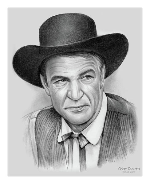 Wall Art - Drawing - Gary Cooper by Greg Joens