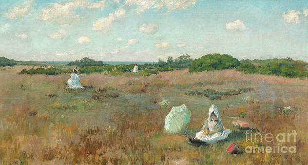 Wall Art - Painting - Gathering Autumn Flowers by William Merritt Chase