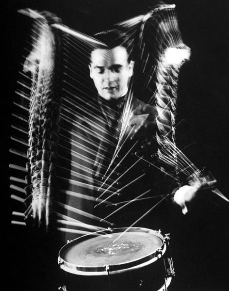 Drum Photograph - Gene Krupa by Gjon Mili