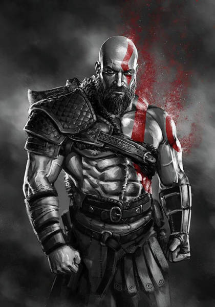 God Of War Wall Art - Digital Art - God Of War by Geek N Rock
