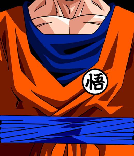 Wall Art - Digital Art - Goku  by Geek N Rock