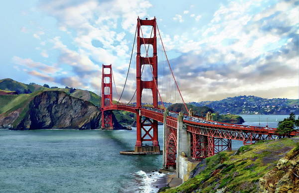 Photograph - Golden Gate Bridge by Anthony Dezenzio