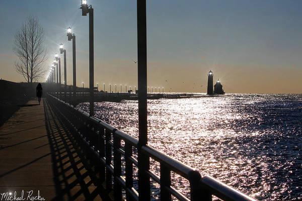 Wall Art - Photograph - Grand Haven Lighthouse Pier by Michael Rucker