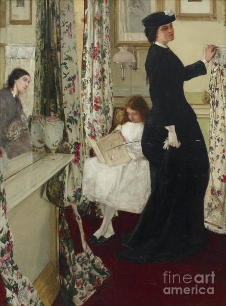 Wall Art - Painting - Harmony In Green And Rose The Music Room by James Abbott McNeill Whistler