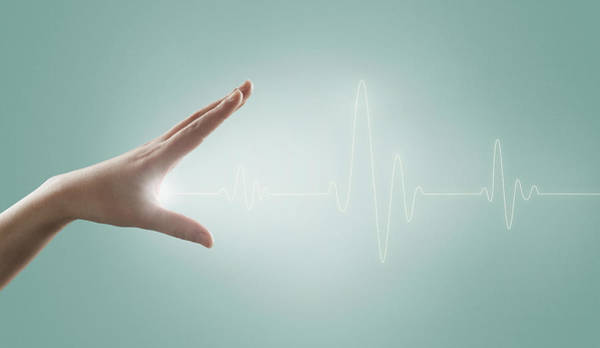 Pulse Photograph - Heart Rate Line And The Hand by Yagi Studio
