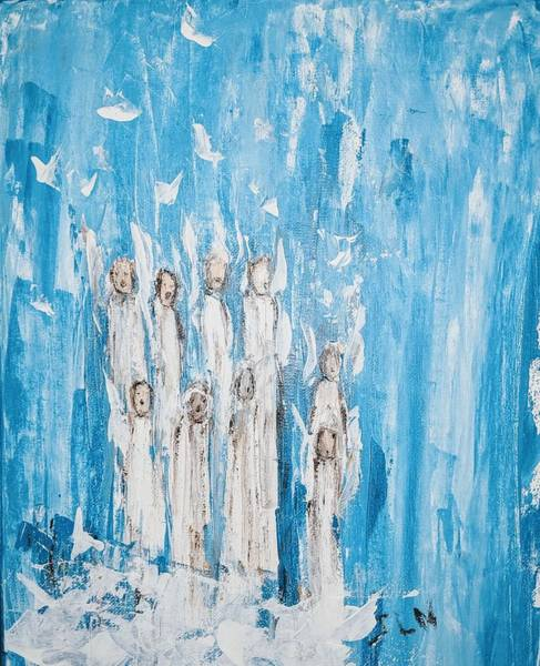 Heavenly Host Of Angels  Art Print