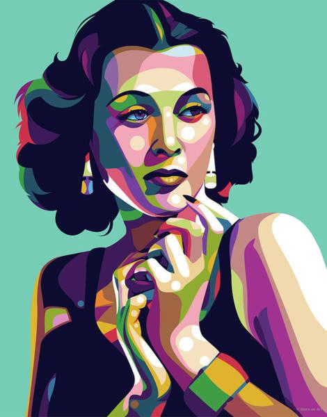 Digital Art - Hedy Lamarr by Stars on Art