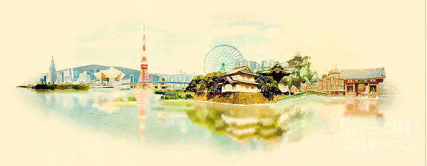 Wall Art - Digital Art - High Resolution Panoramic Water Color by Trentemoller