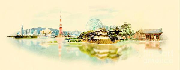Panoramic Digital Art - High Resolution Panoramic Water Color by Trentemoller