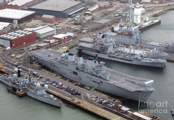 Wall Art - Photograph - Hms Invincible Portsmouth Naval Base, England 2007 by Glenn Harvey