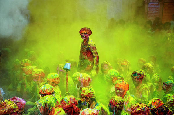 Holi Photograph - Holi, The Festival Of Colors, India by Poras Chaudhary