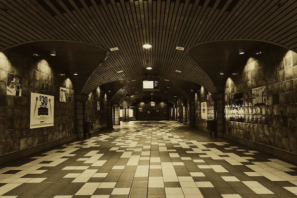 Wall Art - Photograph - Hollywood And Vine Metro Station by Mountain Dreams