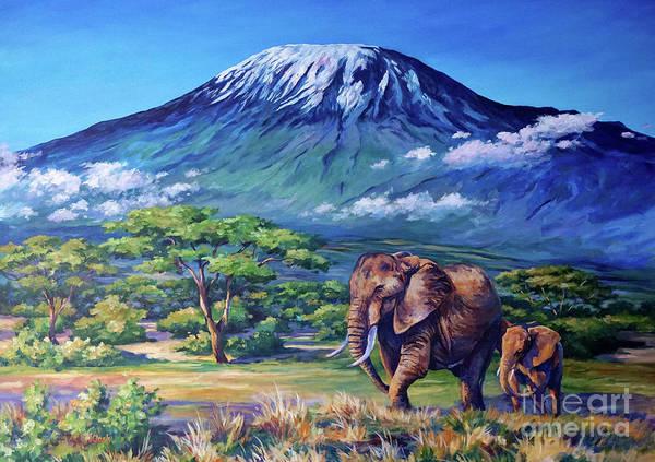 Tusk Wall Art - Painting - Homeward Bound by John Clark