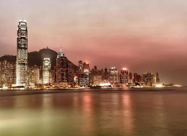 Photograph - Hong Kong At Sunset by Laoshi