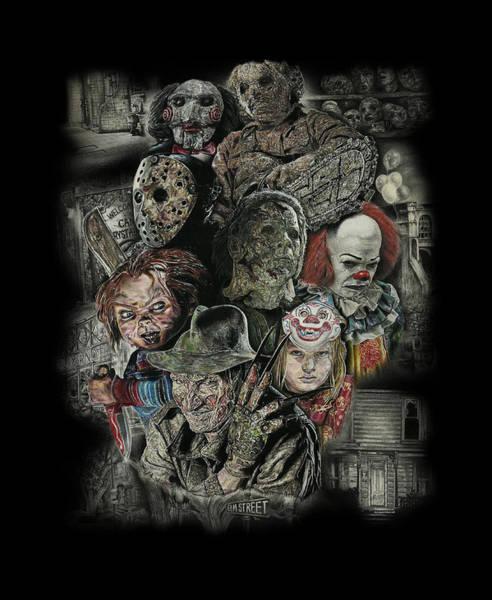 Chucky Wall Art - Mixed Media - Horror Movie Murderers by Daniel Ayala