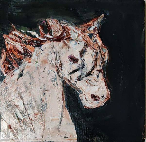 Wall Art - Painting - Horse-2 by Anand Swaroop Manchiraju