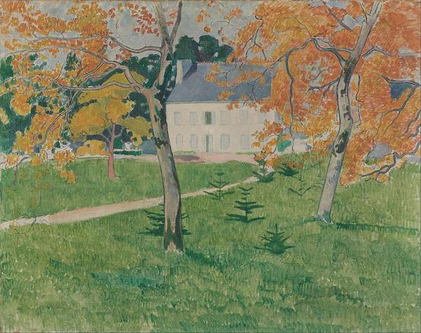 Wall Art - Painting - House Among Trees - Pont-aven by Emile Bernard
