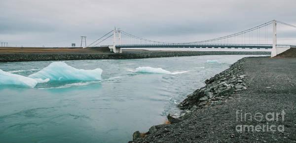 Photograph - Huge Blocks Of Ice On Glacial River And Blue Icebergs On Jokulsarlon Glacier Lake. Vatnajokull National Park, Iceland. by Joaquin Corbalan
