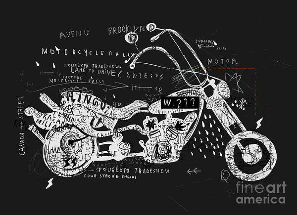 Wall Art - Digital Art - Image Of Motorcycle, Which Is Made In by Dmitriip