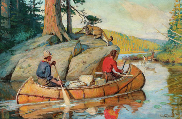 R Painting - In The Canoe by Philip R Goodwin