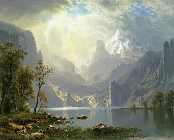 Painting - In The Sierras - Lake Tahoe by Albert Bierstadt