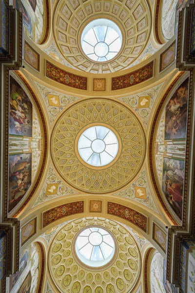 Wall Art - Photograph - Interior Ceiling Of The Hermitage Winter Palace St Petersburg Russia by imageBROKER - Eduardo Fuster Salamero