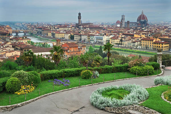 Wall Art - Photograph - Italy, Florence Overview Of City by Jaynes Gallery