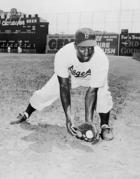 Photograph - Jackie Robinson by Hulton Archive