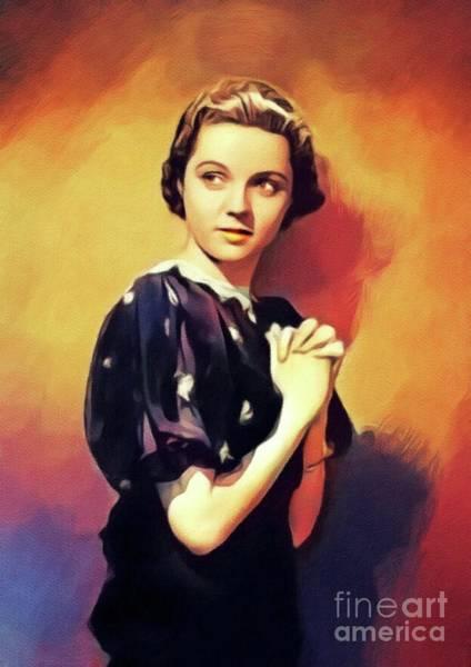 Wall Art - Painting - Jane Wyatt, Vintage Actress by John Springfield