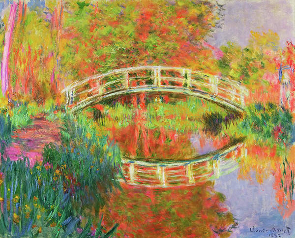 Wall Art - Painting - Japanese Footbridge, Giverny by Claude Monet
