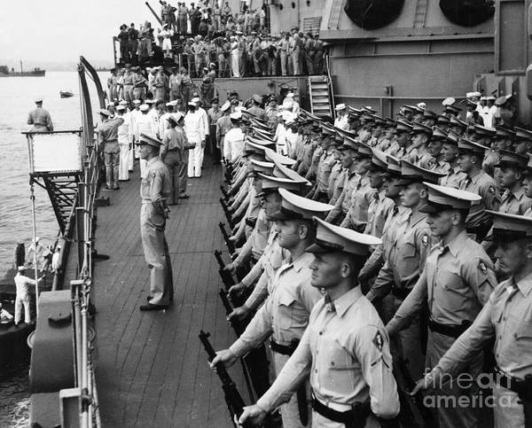Photograph - Japanese Surrender, 1945 by Granger