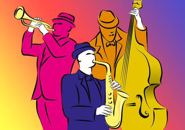 Jazz Trio Digital Art - Jazz Trio by Yuri Karminsky
