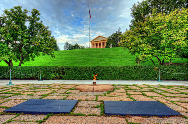 Department Of Defense Photograph - Jfk Grave And Arlington House by Craig Fildes