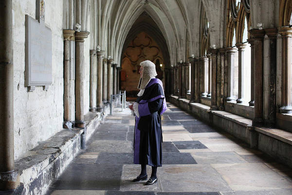 Cloister Photograph - Judges Attend The Annual Service At by Oli Scarff