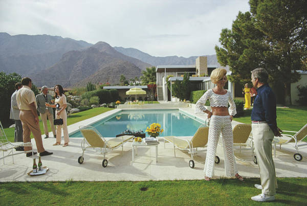 Swimming Photograph - Kaufmann Desert House by Slim Aarons