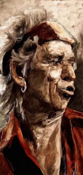 Semis Digital Art - Keith Richards by James Shepherd