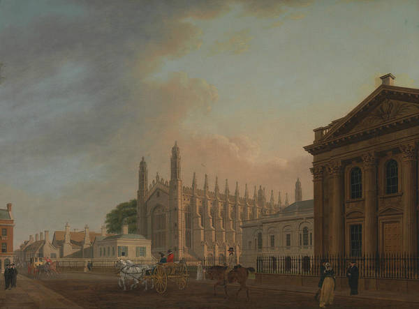 Painting - King's Parade, Cambridge by Thomas Malton the Younger