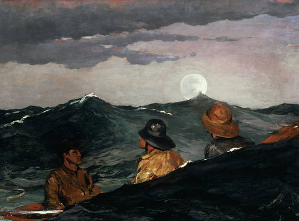 Wall Art - Painting - Kissing The Moon, 1904 by Winslow Homer