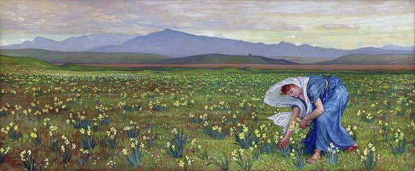 Wall Art - Painting - La Primavera by Walter Crane
