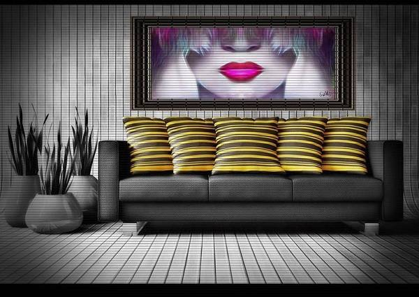 Digital Art - Lady Fashion Beauty by Swedish Attitude Design