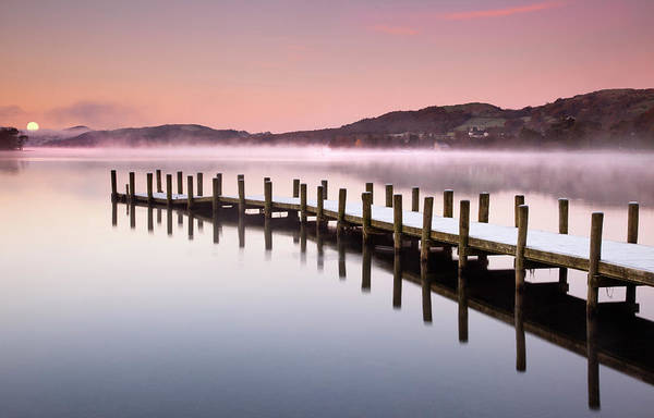 Jetty Photograph - Landing Jetty On Conniston Water, Lake by Travelpix Ltd