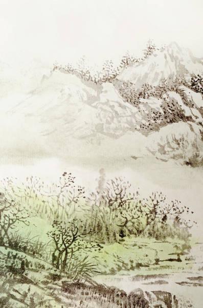 Calligraphy Digital Art - Landscape by Vii-photo
