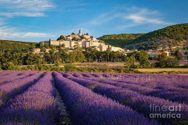 Photograph - Lavender Field Below Banon by Brian Jannsen